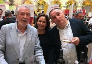 Mariano García, chef Jose Andrés y María del Yerro